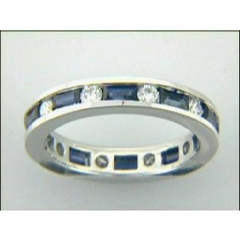 RING 18K w/0.42CTS DIAM+ SAPH  CLOSE-OUT