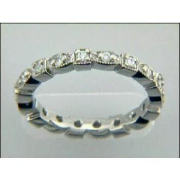 LADIES WEDDING PLATINUM w/0.28CTS DIAMONDS ETERNIT