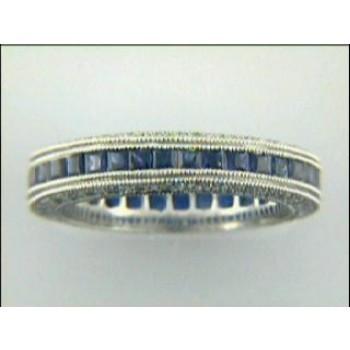 RING PLATINUM w/0.65 CTS DIAM+SAPH  CLOSE-OUT