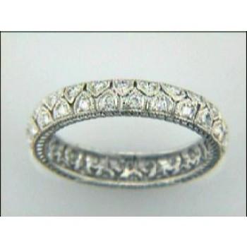 WEDDING PLATINUM  w/0.36CTS DIAMONDS ETERNITY