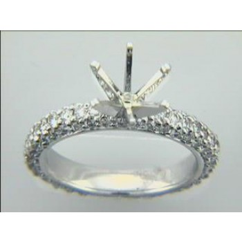 RING 18K w/1.37CTS DIAMONDS MICRO PAVE