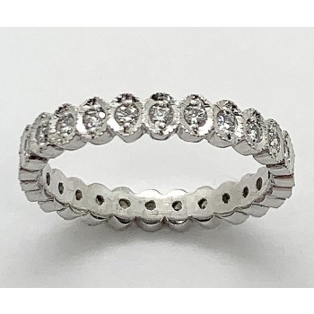 WEDDING  18K w/0.46CTS DIAMONDS ETERNITY