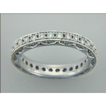 LADIES WEDDING 18K w/0.93CTS DIAMONDS ETERNITY