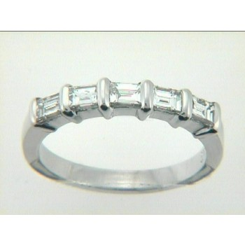 "RING PLATINUM w/0.82CTS DIAMONDS ""CLOSE-OUT"""