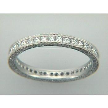 WEDDING  PLATINUM w/ 1.23 CTS DIAMONDS ETERNITY
