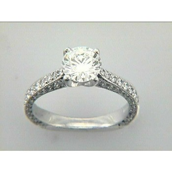 RING 18K  w/0.68 CT DIAMONDS (center not included)