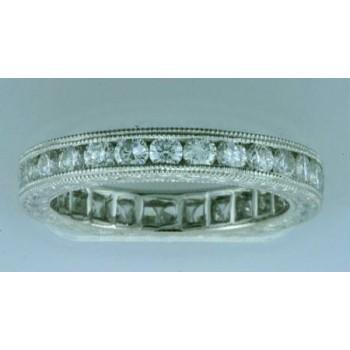 WEDDING PLATINUM w/1.36CTS DIAMONDS ETERNITY