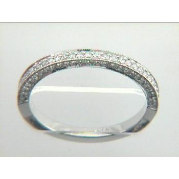 WEDDING  18K w/0.48CTS DIAMONDS ETERNITY