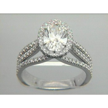 RING 18K w/0.76CT DIAMONDS (center not included)
