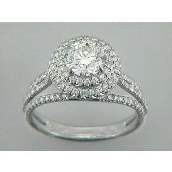 RING 18K  w/0.87CT DIAMONDS (center extra)