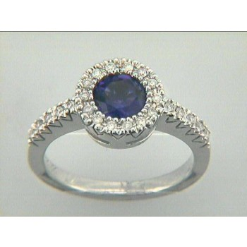 RING  14K w/0.20CTS DIAM+AMETHYST CLOSE-OUT