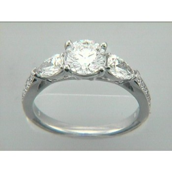RING 18K  w/0.81 CT DIAMONDS (center not included)