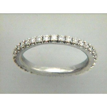 WEDDING BAND 18K w/0.77CTS DIAMONDS