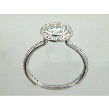 ENG. RING 18K w/0.32CTS DIAMONDS (center extra)