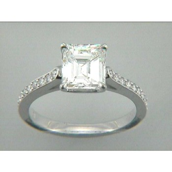 RING 18K w/0.26CT DIAMONDS (center not included)