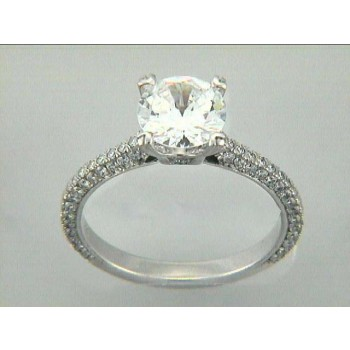 ENG. RING 18K w/0.70CTS DIAMONDS (center extra)