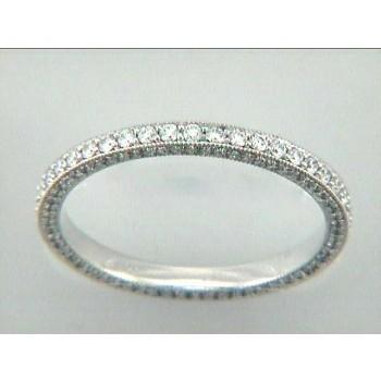 WEDDING RING 18K w/0.74CTS ROUND DIAMONDS