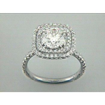 RING 18K w/0.70CT DIAMONDS (center not included)