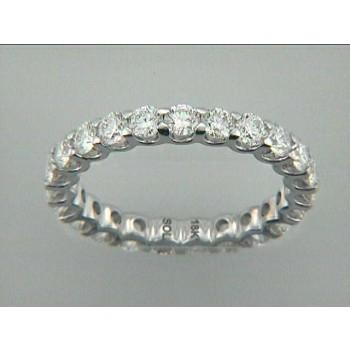 "WEDDING RING 18K w/1.82CT DIAMOND ETERNITY ""SPECIAL ORDER"""