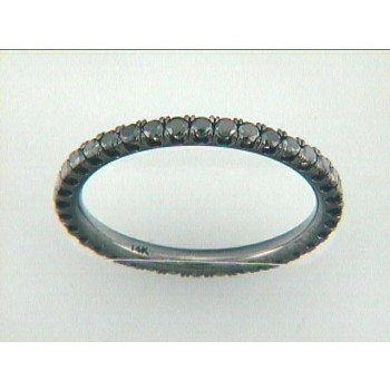 WEDDING BAND 18K w/0.67CT BLACK DIAMOND