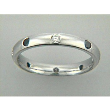 WEDDING 14K w/0.30CT WHITE+BLACK DIAMONDS