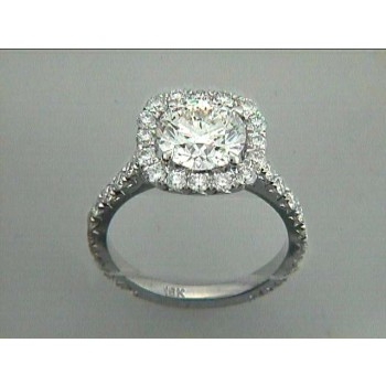 ENG. 18K w/0.88CT DIAMONDS (center not included)