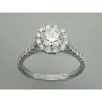 ENG.  18K w/0.68CT DIAMONDS (center stone extra)