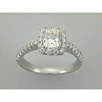 ENG. 18K w/0.76CT DIAMONDS (center not included)