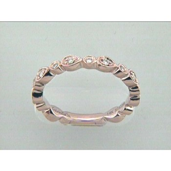 WEDDING BAND 14K PINK w/0.19CT DIAMONDS