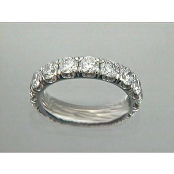 WEDDING 18K w/3.99CT DIAMOND ETERNITY