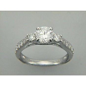 RING 18K w/0.26CT DIAMONDS (center extra)