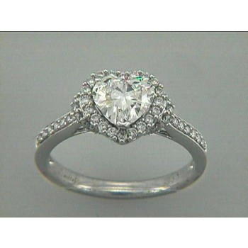 ENG. RING 18K WG w/0.42CT DIAMONDS (center extra)