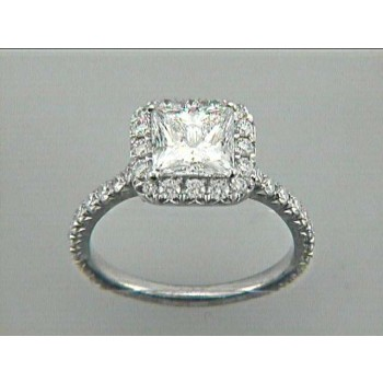 ENG. RING 18K WG w/0.79CT ROUNDS (center extra)