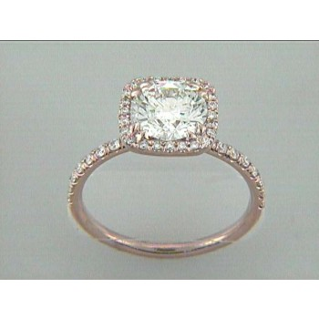 ENG. 18K PINK GOLD w/0.26CT ROUNDS (center extra)