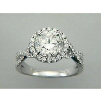 RING 18K w/ 0.69CT DIAMONDS (center extra)