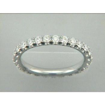 WEDDING 18K w/1.23CT DIAMONDS ETERNITY