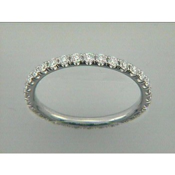 WEDDING 18K WG w/0.64CT DIAMONDS ETERNITY