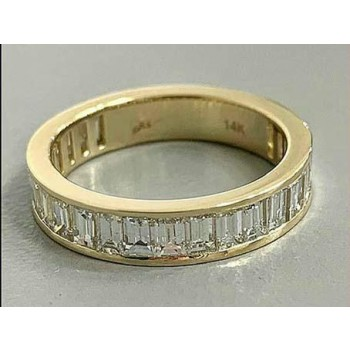 "DIAMOND WEDDING 14K YG w/1.69CT BAGUETTE  ""SPECIAL ORDER"""
