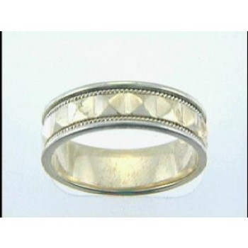 GENT'S WEDDING 14K GOLD TWO TONE