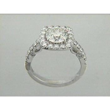 RING 18K w/0.70CT DIAMONDS (center extra)