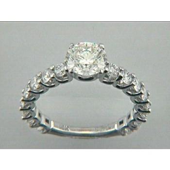 RING  18K w/1.28CT DIAMONDS (center extra)