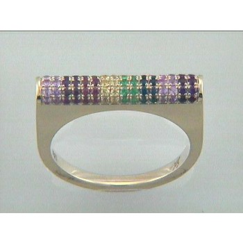 """RING 18K YELLOW GOLD w/COLOR STONES """"SPECIAL ORDER"""""""