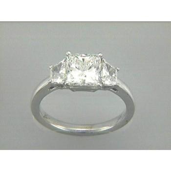RING 18K WG w/0.56CT SIZE DIAMONDS (center extra)