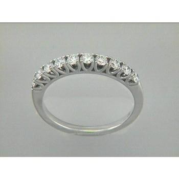 WEDDING BAND 14K WG w/0.49CT DIAMONDS