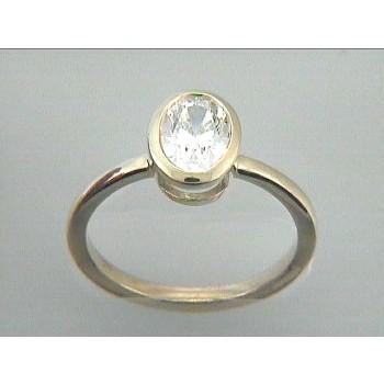 ENG. RING 18K YG w/OVAL DIAMOND(center extra)