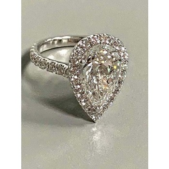 ENG. RING 18K WG w/0.68CT ROUNDS (center extra)