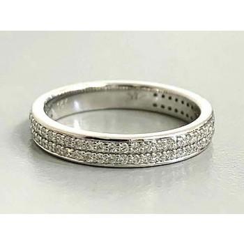 RING 14K WHITE GOLD w/0.33CT  DIAMONDS