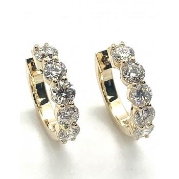 "EARRINGS 14K Y.G. w/10-DIAMONDS AT 2.15CT ""SPECIAL ORDER"""