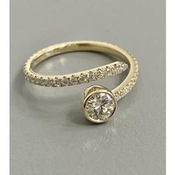 "LADIES 14K YG RING w/0.44CT DIAMONDS + 0.38CT SINGLE DIAMOND ""SPECIAL ORDER"""